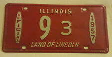 1957 ILLINOIS OFFICIAL 9-3 LICENSE PLATE