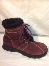 Report Purple Ankle Suede Boots Size 6.5 U.K.