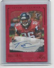 TEVIN COLEMAN 2015 GRIDIRON KINGS ART RED FRAME FALCONS ROOKIE AUTO RC #D 6/49