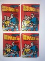 1976 Space 1999 4 packs of Donruss Space:1999 Wax Packs Gum Vintage Trading S1