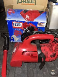Dirt Devil Ultra Hand Vacuum Red 4 Amp Royal Electric + Attachments 08230T