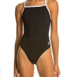 Speedo Endurance+ Flyback Training Women's Swimsuit Black Sz 26 NEW