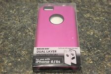 WIRELESS DUAL LAYER PROTECTION CASE FOR IPHONE 6/6S PINK 106953-1(J)BBB-5 [#12]