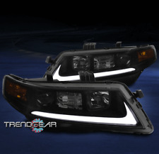 FOR 2004-2008 ACURA TSX CL9 LED PROJECTOR HEADLIGHTS HEADLAMPS BLACK/SMOKE LENS