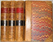 LEATHER Set;WORKS OF EDGAR ALLAN POE! (Printed 1871!) COMPLETE ANTIQUARIAN RARE!