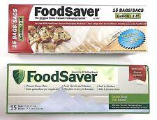 """FoodSaver Vacuum Sealer Seal Bags New 2 Boxes 1 Gallon 11"""" x 14"""" - 30 Total Bags"""