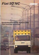 Fiat 90 NC Truck Mid 1970s Original FINNISH Sales Brochure Pub. No. 3660