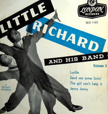 """LITTLE  RICHARD AND HIS BAND VOL. 3 RARE EP 7"""" ITALY 1958 LABEL LONDON REO 1103"""