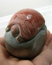 #2 198g Natural Jasper Hand Carved Sea Turtle Carving Specimen 7 oz 60mm