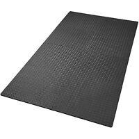 Lot de 8 tapis de protection éléments à emboîter de fitness de gymnastique noir