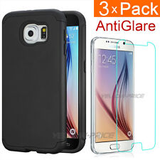 For Samsung GALAXY S6 G920 Hybrid Double Layer Armor Case Cover+3pcs Screen Film