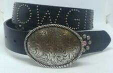 Nocona Youth Black Studded Rhinestone Cowgirl Belt Style- N4410601 28