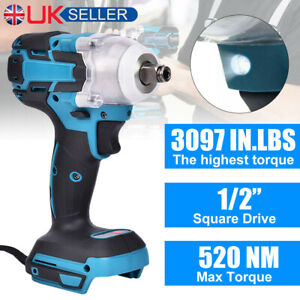 18V Cordless Impact Brushless Wrench Driver Torque Replace For Makita Battery UK