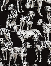 Timeless Treasures ~ Dalmation Dogs on Black ~ 100% Cotton Quilt Fabric BTY