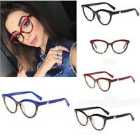 Fashion Cat Eye Reading Eyeglasses Optical Glasses Frames Plain Glasses Women