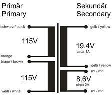 Netztrafo 115V / 230V --> 20V + 9V (oder 29V) 40W Transformator Transformer