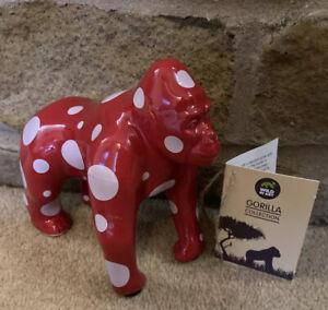 "Wild In Art Gorilla Collection ""Spot The Gorilla"" Figurine ~ Adrian Riley"