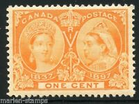 CANADA JUBILEE SC#51 1c XF  CENTERING BRILLIANT   EXCEPTIONAL COLOR MINT LH OG