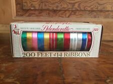 Vintage Berwick Splendorette Christmas Ribbon Never Used In Original Box