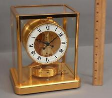Modernist Vintage LECOULTURE ATMOS Perpetual Gold Gilt Brass Clock 13 Jewels, NR
