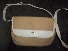 """Etienne Aigner TAN Colored CANVASE Handbag Excellent Condition 9"""" H X 11 W"""