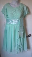 NEW Womens fancy dress size 16, green, prom, bridesmaid wedding party *825