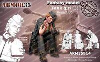 1/35 Resin Figure Model Kit Sexy Girl Soldier (no TANK) Unassamble Unpainted 515