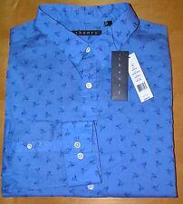 THEORY Men's Zack PS Blue Lunada Print Casual Sport Shirt LS XL X-Large NEW $195