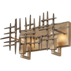 Varaluz Brutalist Mid Century MCM Design 2-Light  Bath Vanity Wall Sconce