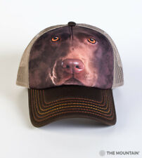 The Mountain Chocolate Lab Unisex Adult Trucker Hat, Brown, Adjustable