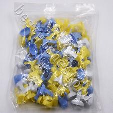 100 Pc Dental Disposable Plastic Finger Rings Handy Endo Dappen Dish Prophy Bowl