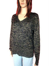 CPM Womens Wool Blend Casual Beads Thin Knit VNeck Jumper Blouse Plus sz 18 AN11