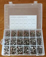 240PC 3/16 1/4 5/16 STAINLESS STEEL UNC SOCKET CAP HEAD ALLEN BOLTS IN BOX
