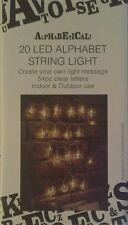 20 LED Luces Cuerda del alfabeto crear su propio mensaje 54 letras clara incluyen