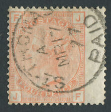 GB Used in DANISH WEST INDIES 4d Vermilion, Pl15, JF, St Thomas PAID CDS