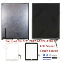 """LCD Display Touch Screen Digitizer For ipad 5th 9.7"""" 2017 A1822 A1823 Lot RHN02"""