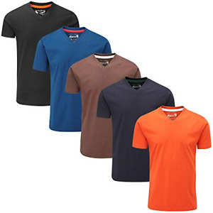 Charles Wilson 5 Pack Plain V-Neck T-Shirt Medium, Dark Essentials Type 42