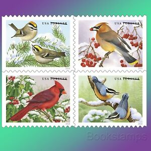 20 Winter Songbirds Forever Stamps Cardinal Christmas Birds In Snow USPS Booklet