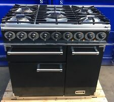 FALCON 900MM DELUXE RANGE COOKER IN BLACK AND CHROME