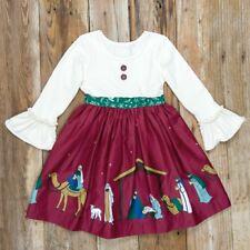 67157d0c9129 NEW 8-10 ELEANOR ROSE Silent Night Nativity Manger Jesus RHONDA Christmas  Dress