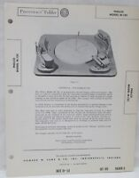 Vtg Howard Sams Photofact Folder Radio Parts Manual Philco M-12C Record Changer