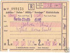 Fahrkarte, Deutsche Reichsbahn, Berlin-Stadtb - Gehren Thür., 7.9.73