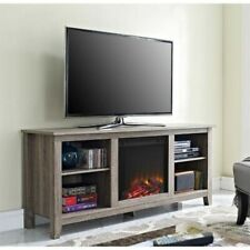 Walker Edison W58FP18AG 58 inch Fireplace TV Stand
