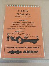 CARNET DI BORDO RALLY CHIERI TORINO 1980 LANCIA STRATOS FIAT 131 ABARTH A112 112