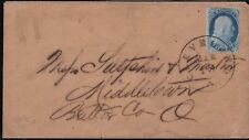 1851 United States USA, n° 3 1 c. blue on LETTER