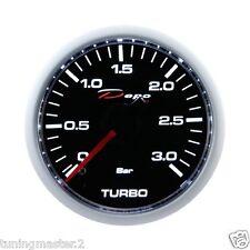 Manometro Strumento 52mm DEPO Pressione Turbo Diesel 0+3 BAR 270 gradi meccanico
