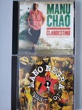 """Lote 2 CD Manu Chao """"Clandestino"""" + Mano Negra """"Best"""" Mestizaje"""
