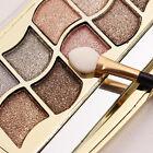Neu 12 Farben Augenschminke Shimmer Palette Kosmetik Pinsel Make-up Lidschatten