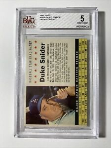 1961 POST DUKE SNIDER #167A FROM COMPANY BVG EX 5