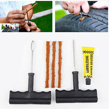 Auto Car Tubeless Tyre Puncture Plug Tire Repair Motorcycle Bike Cement Tool Kit